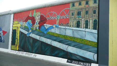 Artwork from the East Side Gallery - on the remains of the Berlin Wall