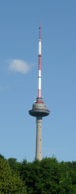 Picture of the TV Tower above the Vilnius campsite