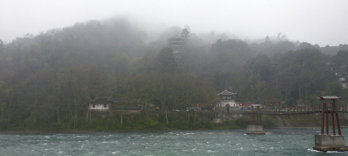 A disappointingly misty day at Dujiangyan
