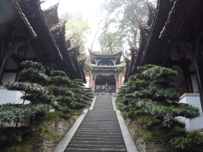 One of the many temples at Dujiangyan