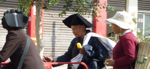 Interesting hats near Xichang.