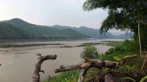 View of the Mekong from one of our campsites