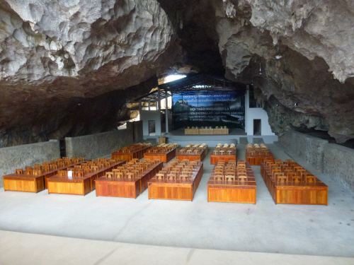 A cinema in a cave - now used for civic events