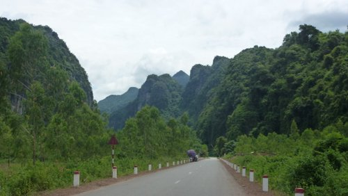 Heading into the stunning jungle-clad Karst of Phong Nha National Park