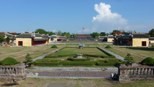 Inside the Citadel grounds in Hue.