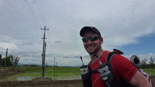 Jamie, running 240km in 8 days for the STV Appeal.  Just found out he made it in 7 days - well done! http://jamieinthejungle.blogspot.com/