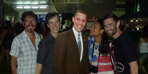 Keith, Tamar, Barack, Lasia and Josh enjoying the party.