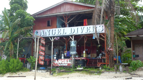 Our dive school on Perhentian Kecil.