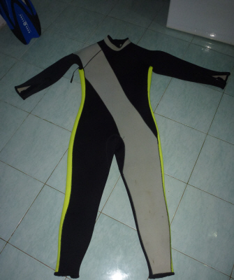 The world's ugliest wetsuit....