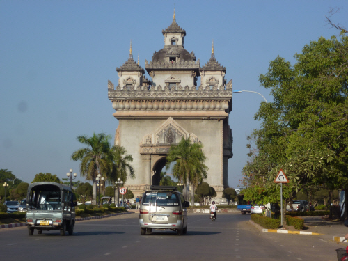 Vientiane's very own 'Arc de Triumph'