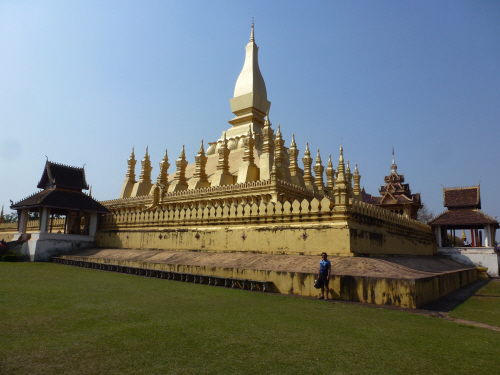 Stupa dupa!  Pha That Luang in Vientiane.