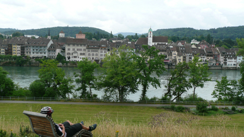 Looking at Switzerland from Germany.