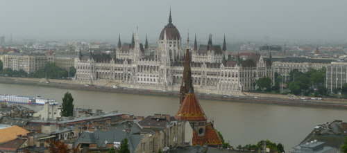 Budapest's enormous parliament building - the largest building in Hungary.