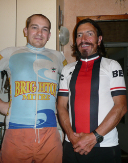 Brighton Mitre cycling club's representative in Ukraine.