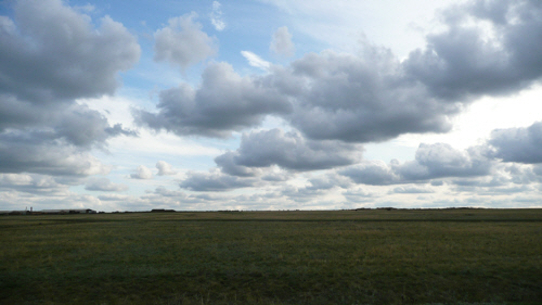 Spectacular skies transformed the steppe.