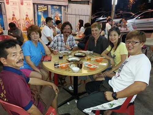 A late dinner in Sungai Petani with Richard and friends.