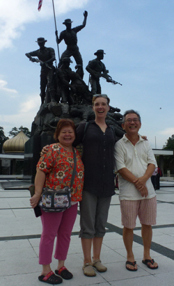 With Angie & Yuen at the National Monument.