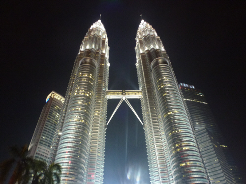 The breathtakingly beautiful Petronas Towers.