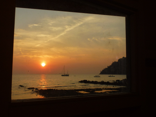 Tamar's favourite 'View From The Loo' at the dive school.