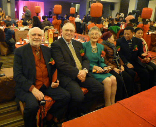 The Parental Group, L-R Duncan's dad, step-dad and mum; Spring's grandmother, dad and mum