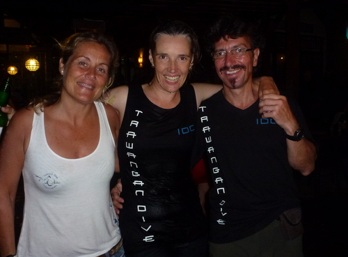 Celebrating with Judith, who took us through our Advanced Open Water, Wreck Specialty and Divemaster training back in 2013 on Koh Tao. Nice to catch up!