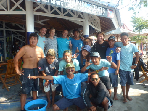Some of the crew at Blue Marlin Dive.